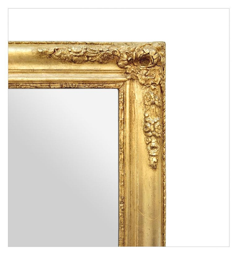 Antique French Giltwood Mirror, Romantic Style, circa 1840 For Sale 1