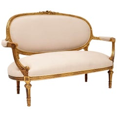 Antique French Giltwood Sofa