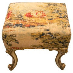 Antique French Giltwood Upholstered Bench