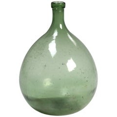 Antique French Glass Demijohn or Carboy