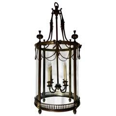 Antique French Gold Bronze Lantern, circa 1880