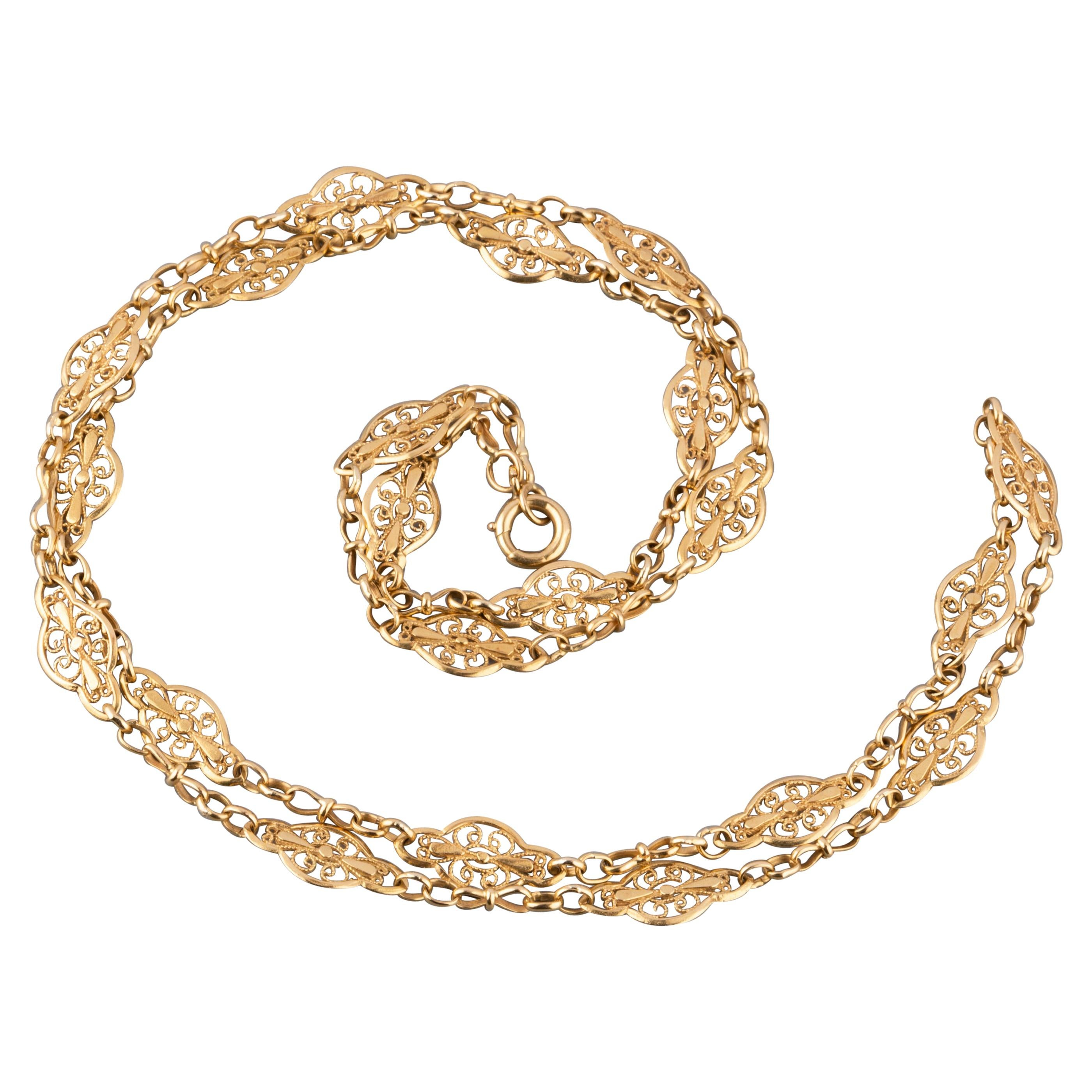 Antique French Gold Chain Necklace