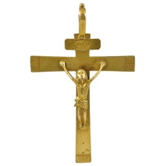 Antique French Gold Crucifix