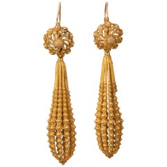 Antique French Gold Earrings, circa 1820