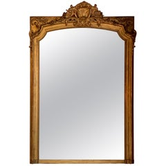 Antique French Gold Leaf Mirror