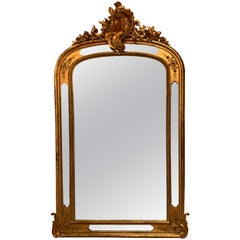 Antique French Gold Leaf Mirror, Paneled