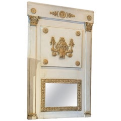 Antique French Gold Leaf Painted Trumeau
