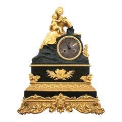 Antique French Gold Mantel Clock, circa 1900