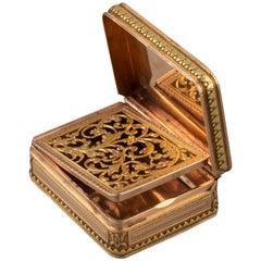 "Antique French Gold Perfume Boxe ""vinaigrette"""