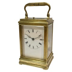 Antique French Gorge Case Repeating Carriage / Travel Clock
