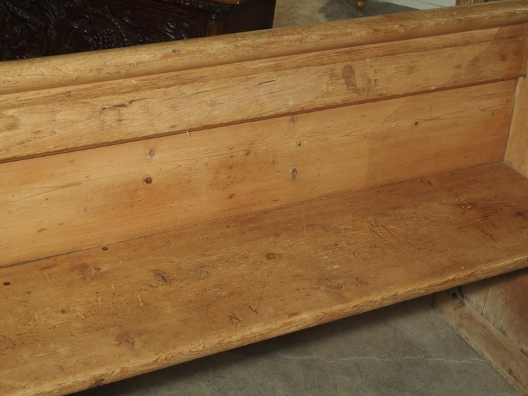 Antique French Gothic Chapel Pew Bench, 19th Century For Sale 11