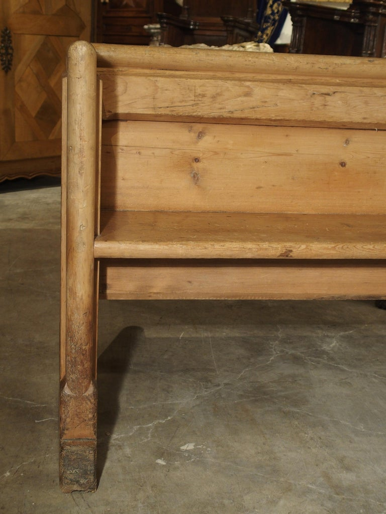 Antique French Gothic Chapel Pew Bench, 19th Century For Sale 3