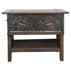 Antique French Gothic Low Buffet, Console, Sofa Table
