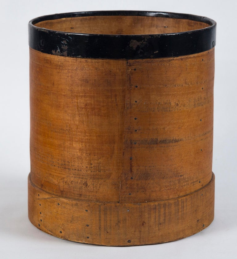 Wood Antique French Grain Measure, Early 20th Century For Sale