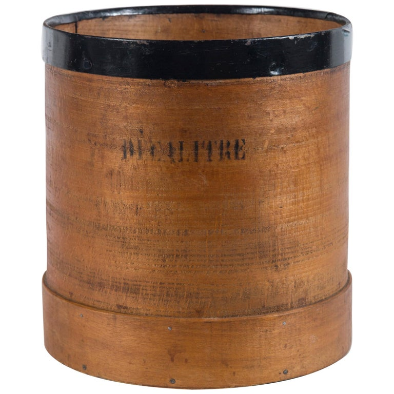 Antique French Grain Measure, Early 20th Century For Sale