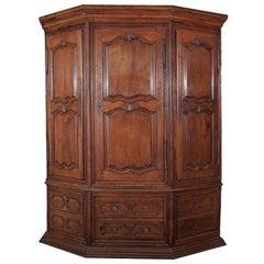 18th Century Louis XIV Corner Cabinet