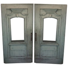 Antique French Green Door
