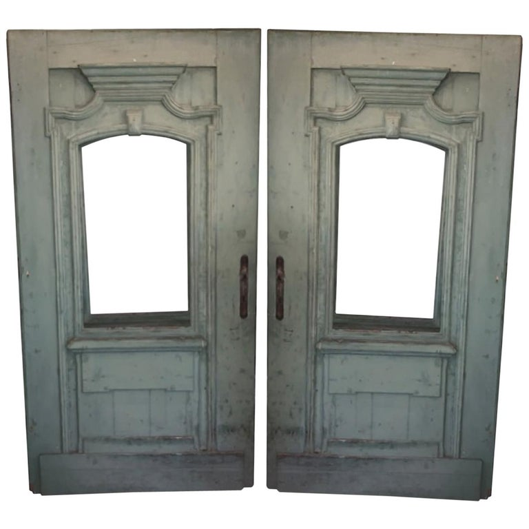 Antique French Green Door For Sale