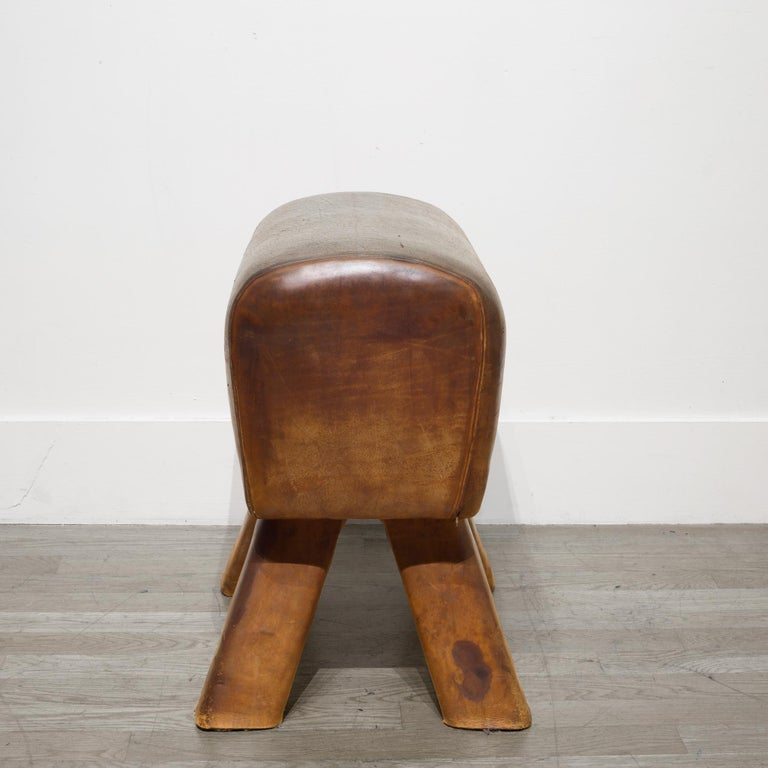 Industrial Antique French Gymnasium Pommel Horse, circa 1920 For Sale