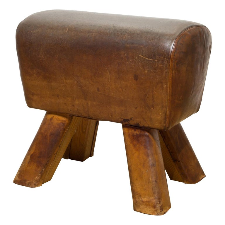 Antique French Gymnasium Pommel Horse, circa 1920 For Sale
