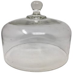 Antique French Hand Blown Glass Cheese or Pastry Cloche Dome