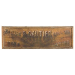 Antique French Hand Painted Sign
