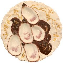 Antique French Haviland Limoges Porcelain Turkey Pattern Oyster Plate circa 1890