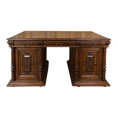 Antique French Henri II Partner's Desk