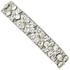 Antique French Import 15.80 Carat Diamond and Platinum Bracelet, circa 1920