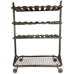 Antique French Industrial Drying Rack, circa 1930, Great for Wine or Display