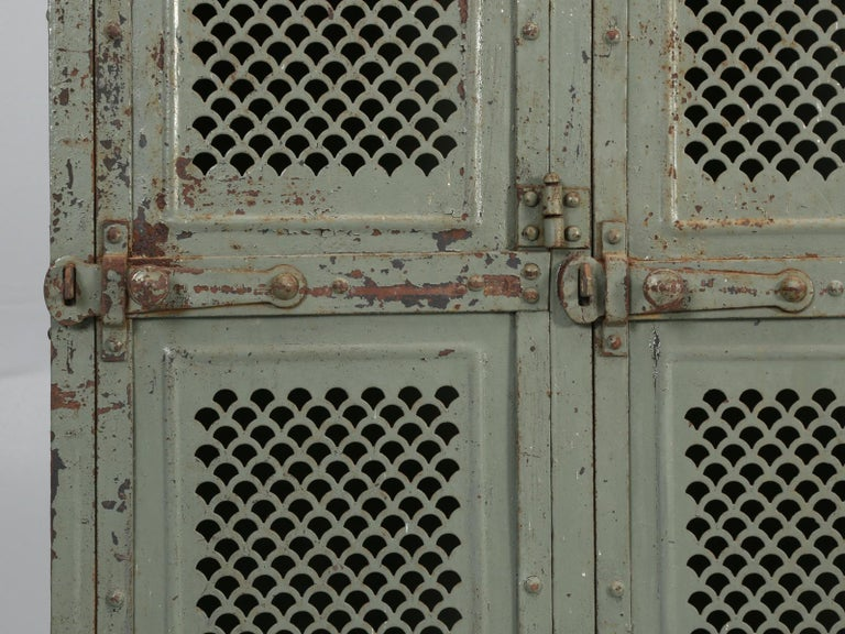 Antique French Steel Industrial Original Painted Lockers For Sale 5