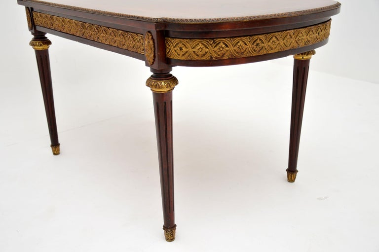 Antique French Inlaid King Wood Coffee Table 4