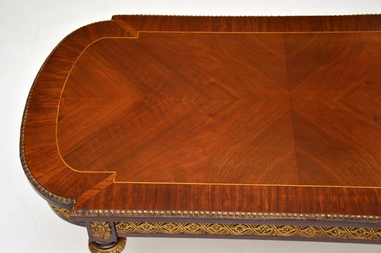 Antique French Inlaid King Wood Coffee Table In Good Condition In London, GB