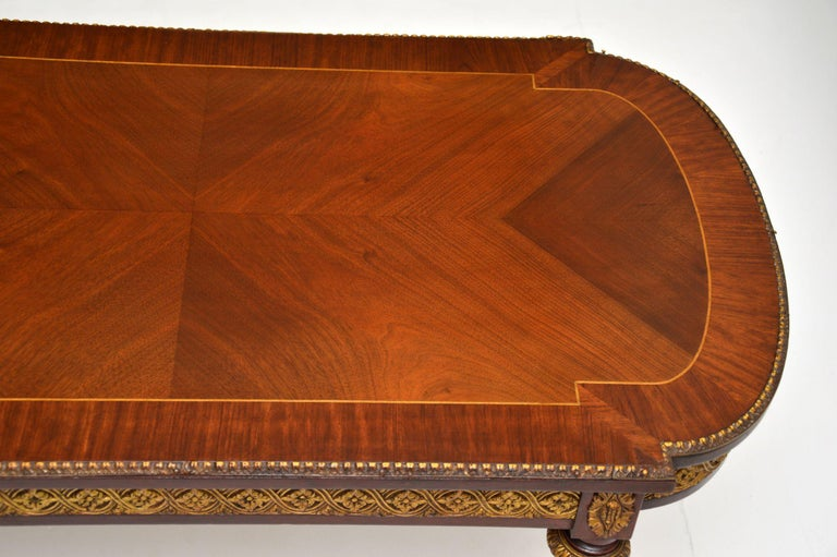 Mid-20th Century Antique French Inlaid King Wood Coffee Table