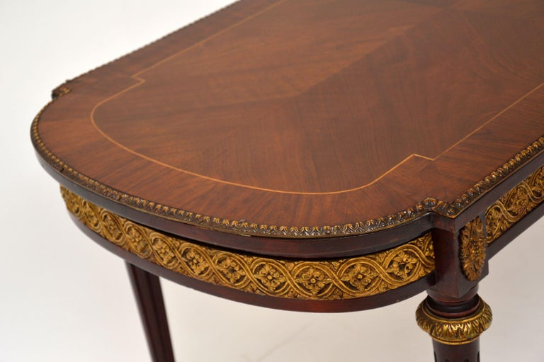 Kingwood Antique French Inlaid King Wood Coffee Table