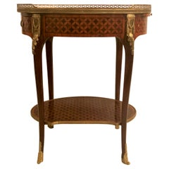 Antique French Inlaid Mahogany and Satinwood Jewelry Table, circa 1865