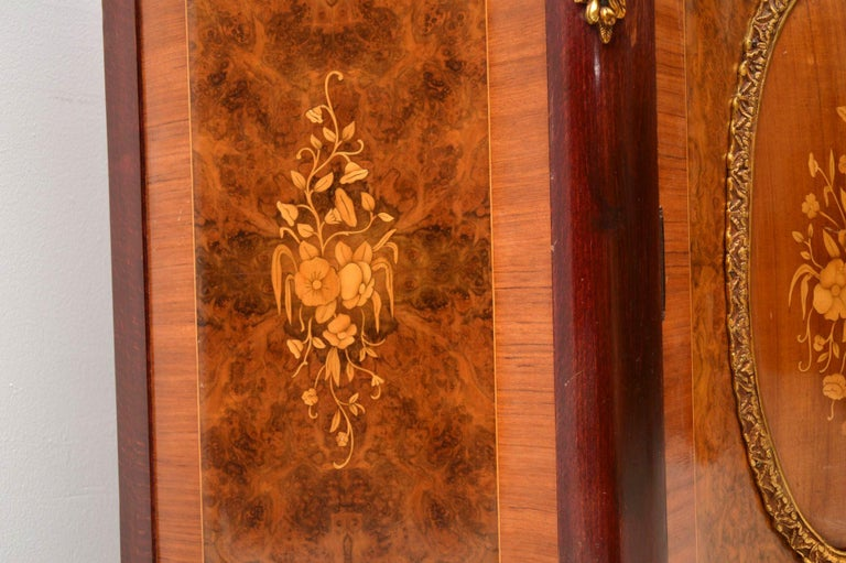 Antique French Inlaid Marble Top Cabinet 1