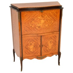 Antique French Inlaid Marquetry Drinks Cabinet
