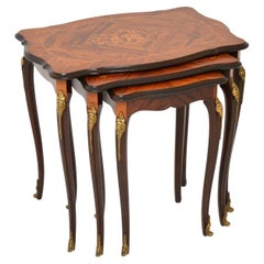 Antique French Inlaid Nest of Tables