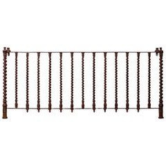 Antique French Iron Console Server Table Reclaimed Architectural Salvage, 1890