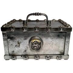 Antique French Iron Lockbox Safe, circa 1840