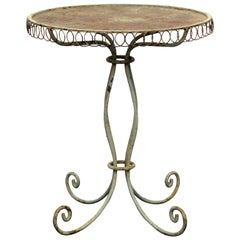 Antique French Iron Wire Garden Table