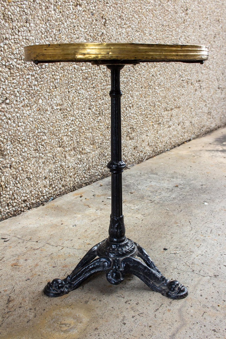 Antique French Iron and Wood Bistro Table For Sale 8