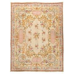 Antique French Ivory Savonnerie Carpet, circa 1900, 10'4 x 12'8