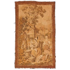 Antique French Jaquar Aubusson Style Tapestry