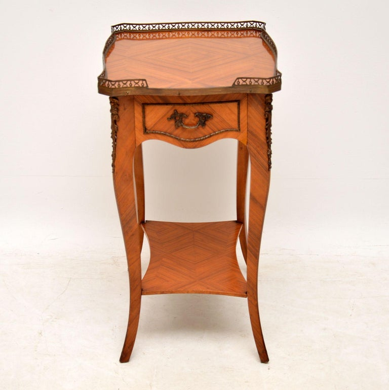 Louis XV Antique French King Wood Side Table For Sale