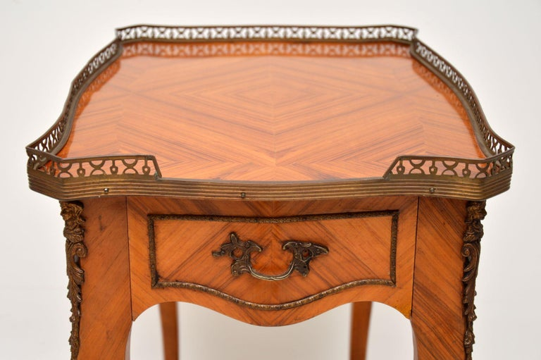 Mid-20th Century Antique French King Wood Side Table For Sale