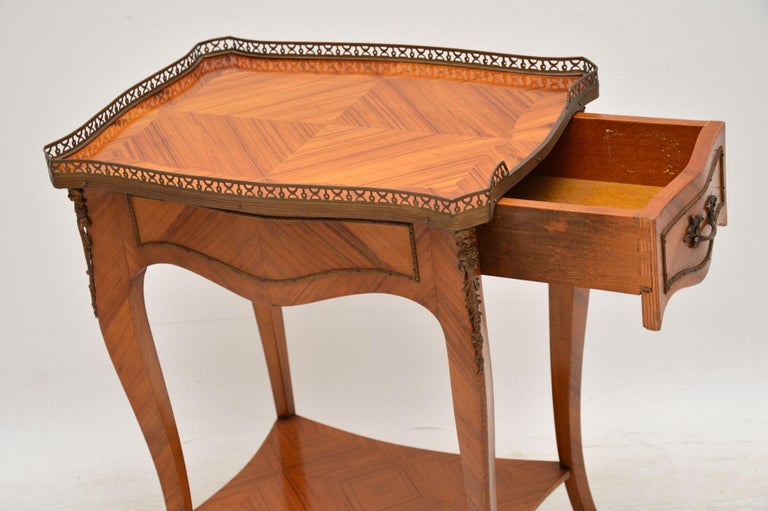 Antique French King Wood Side Table For Sale 1