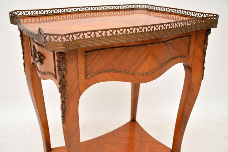 Antique French King Wood Side Table For Sale 2