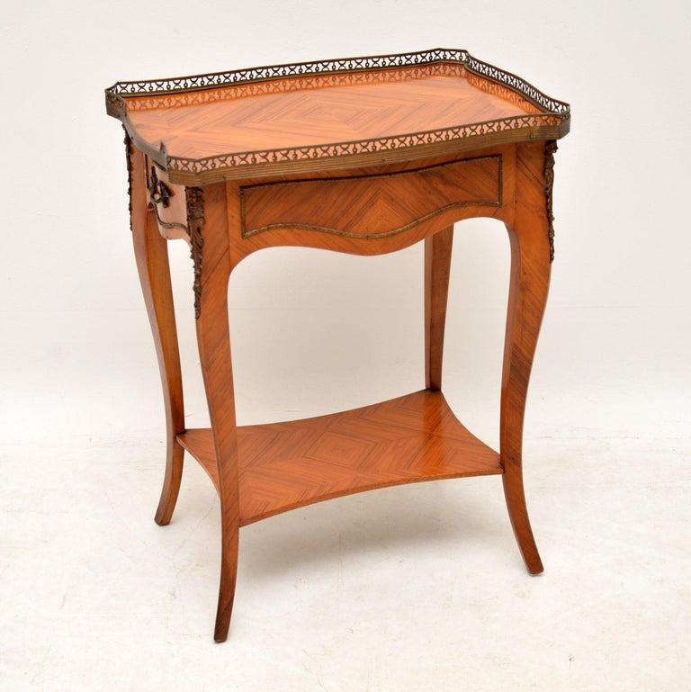 Antique French King Wood Side Table For Sale 3